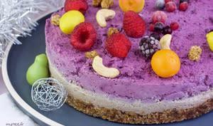 Cheesecake châtaignes et fruits rouges