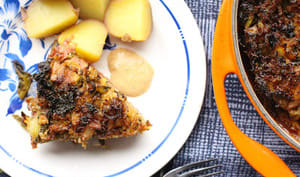 Gratin suédois de chou caramélisé et de viande hachée