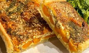 Quiche aux carottes confites et parmesan