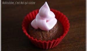 Cupcake framboise meringué
