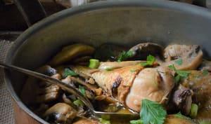 Cuisses de poulet aux champignons façon grand mère