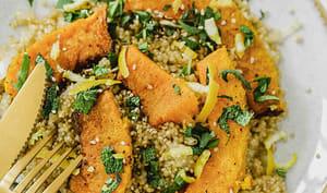 Quinoa courge bleue, citron et sauge