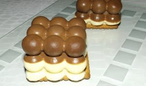 Mini bavarois aux 2 chocolats