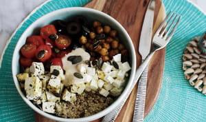 Quinoa bowl méditerranéen