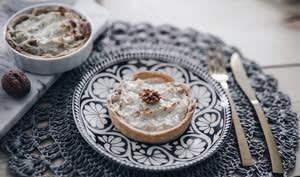 Tarte fenouil, fromage et noix