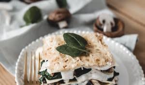Lasagnes épinards, champignons et ricotta