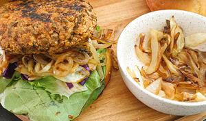 Burger vegan aux lentilles