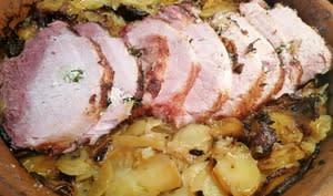 Rôti de porc bordelais façon boulangère