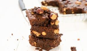 Brownie chocolat noisette et noix de cajou sans gluten