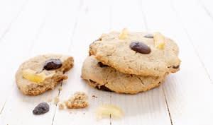 Cookies aux pépites de chocolat et citron confit sans gluten