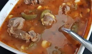 Soupe aux gésiers de volaille et graines de lupin