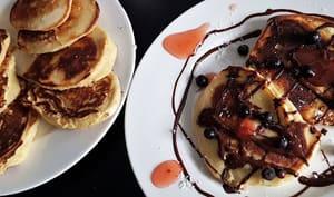 Pancakes à la farine d'avoine et au fromage blanc