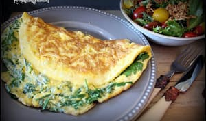 Omelette aux herbes fraiches