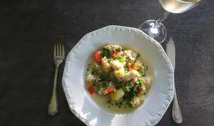 Blanquette de poisson et ses légumes gourmands