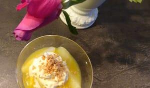 Dessert crémeux aux poires et mascarpone