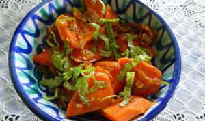 Salade de carottes à la marocaine et filo au fromage de chèvre