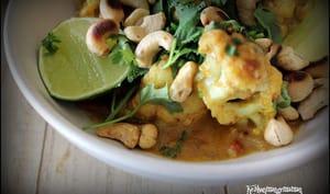 Curry de chou fleur à la mangue et aux noix de cajou