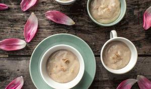 Crème dessert au lait d'avoine et praliné