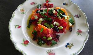 Salade sicilienne d'oranges sanguines