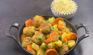 Tajine de légumes d'hiver aux boulettes caramélisées