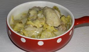 Blanquette de poulet au chou frisé