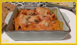 Hachis parmentier aux carottes, patate douce et bacon