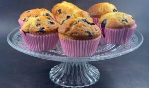 Muffins aux myrtilles et tonka