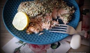 Saumon en croûte de chanvre et pécorino