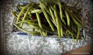 Haricots verts aux cranberries