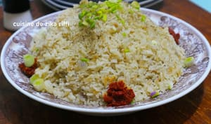 Riz pilaf à l'orientale aux oignons verts