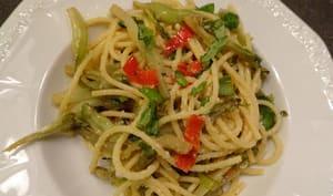 Spaghettis aux puntarelle