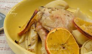 Poulet rôti aux fenouils et à l'orange