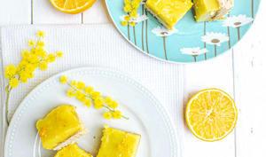 Carrés au citron bergamote et lait d'amande