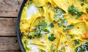 Lasagnes au curry à la poêle