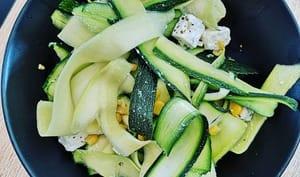 Salade de Courgettes Maïs Feta