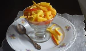 Mangues et melon en verrines