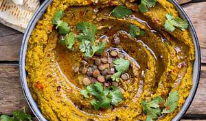 Dip aux carottes et lentilles vertes