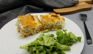 Cannelloni aux poireaux et saumon