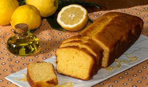 Cake au citron de Menton, à l'huile d'olive