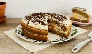 Victoria sponge cake aux fruits tropicaux