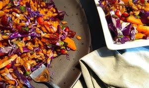 Salade tiède d'épeautre et légumes