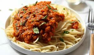 Spaghettis à la bolognaise aux lentilles