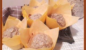 Muffins à la banane et flocons d'avoine