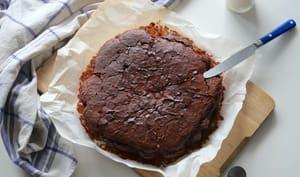 Gâteau moelleux vegan au yaourt et au chocolat