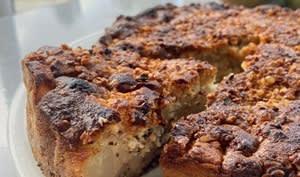 Gâteau moelleux poire noisette pralin