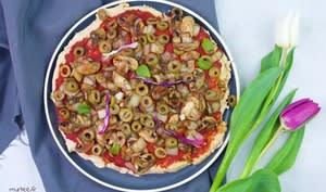 Pizza aux endives et aux champignons