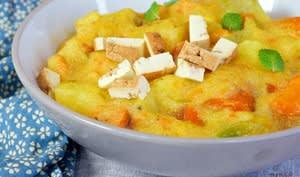 Ragoût de pommes de terre à la polenta