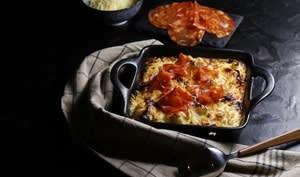 Gratin de chou fleur curry et chorizo