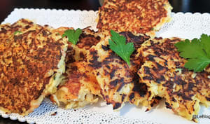 Galettes de panais aux 3 fromages