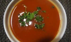 Velouté de tomates au curry